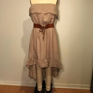 NWT Beautiful Strapless High Low Dress Size M